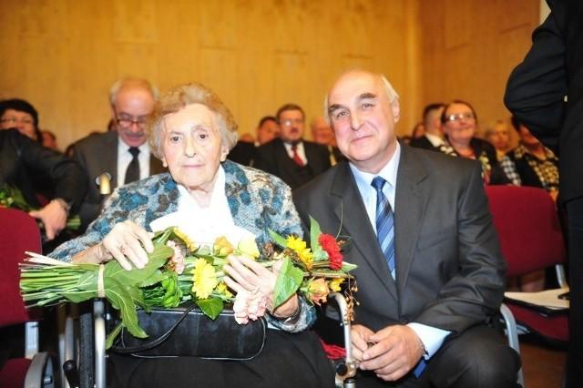 Róża Bednorz i prof. Jerzy Skubis.