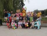 Niecodzienny bieg w Świdniku. Mieszkańcy wskoczyli w piżamy i pobiegli charytatywnie. Zobacz zdjęcia