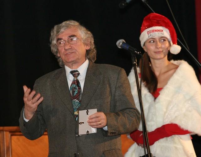 Feliks Netz na imprezie mikołajkowej Dziennika Zachodniego