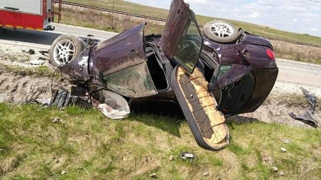 Na miejscu wypadku w Obicach