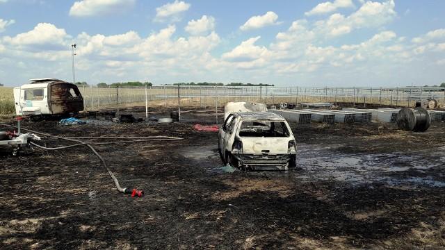Piotr Nowak uratował kierowcę płonącego samochodu. Akurat przejeżdżał tamtędy na rowerze