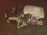 """LUBUSKIE. Poważny wypadek na """"trasie śmierci"""". Fiat nie zatrzymał się na znaku stop i wjechał wprost pod tir"""