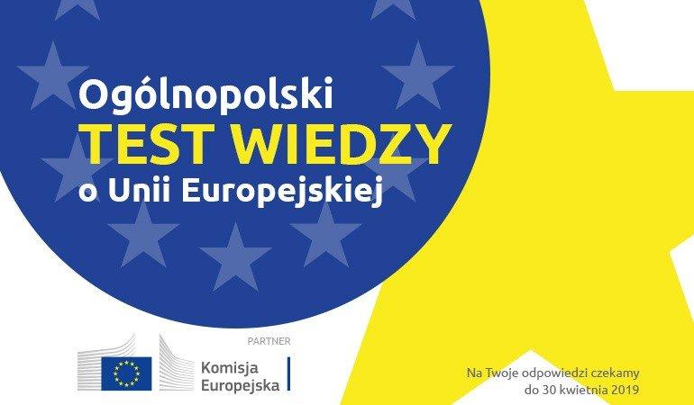 af94600c7d5d4 W dniach 26-30 kwietnia zapraszamy do udziału w Wielkim Ogólnopolskim  Teście Wiedzy o Unii Europejskiej. Mamy dla Was atrakcyjne nagrody.