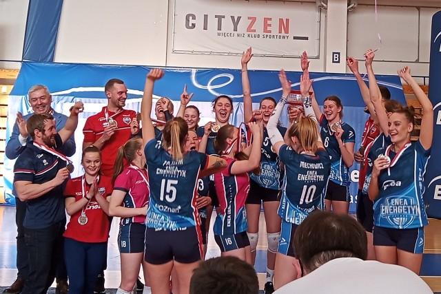 Tak siatkarki Enei Energetyka cieszyły się ze zdobycia brązowych medali w rozgrywkach I ligi