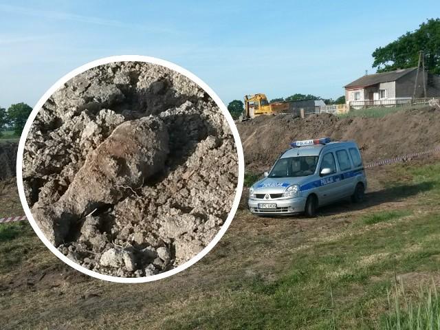 Niewybuch znaleziono w Piórkowie (gm. Radomin)