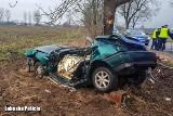Tragiczny wypadek pod Drezdenkiem. Dwie młode osoby nie żyją [ZDJĘCIA]