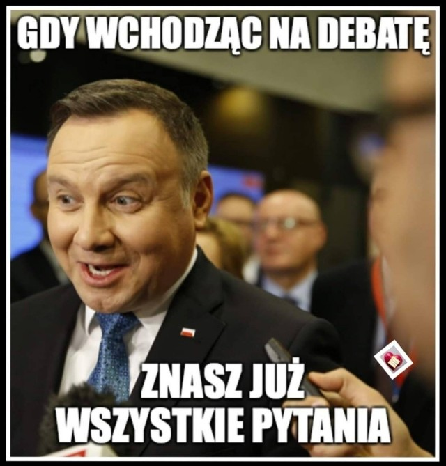 Debata prezydencka inspiracją dla internautów. Zobacz memy, które komentują hity z debaty