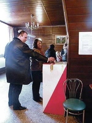 W Skale głosowano m.in. w lokalu wyborczym w budynku OSP Fot. Magdalena Uchto