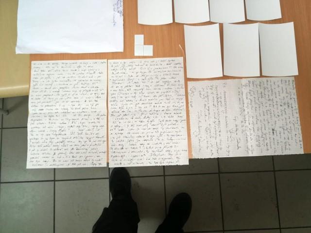 List nasączony amfetaminą