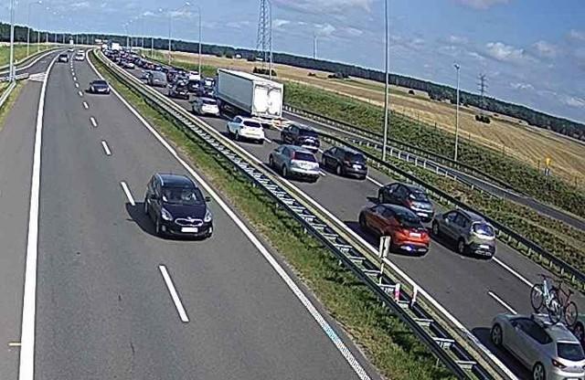 Na drodze S3 w kierunku Szczecina panuje duży ruch