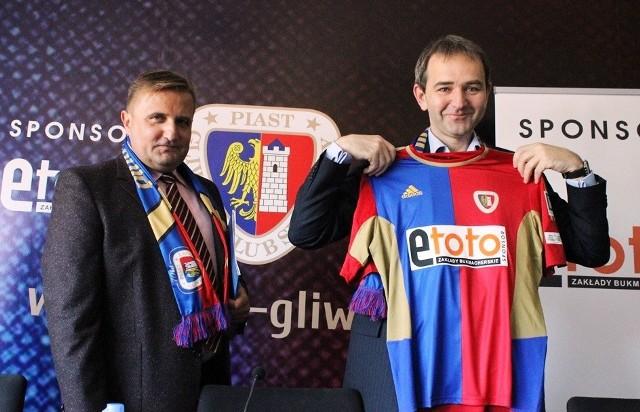 Prezesi Adam Sarkowicz (Piast) oraz Leszek Maciusowicz rozpoczynają współpracę