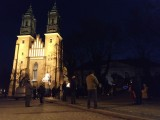 Obrońcy Kościoła spotkali się w związku ze wznowieniem Strajku Kobiet. Pilnowali porządku w pobliżu poznańskich świątyń