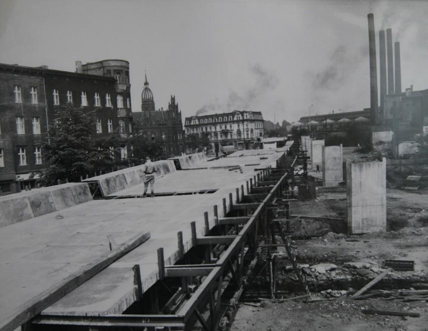 Budowa estakady w Chorzowie
