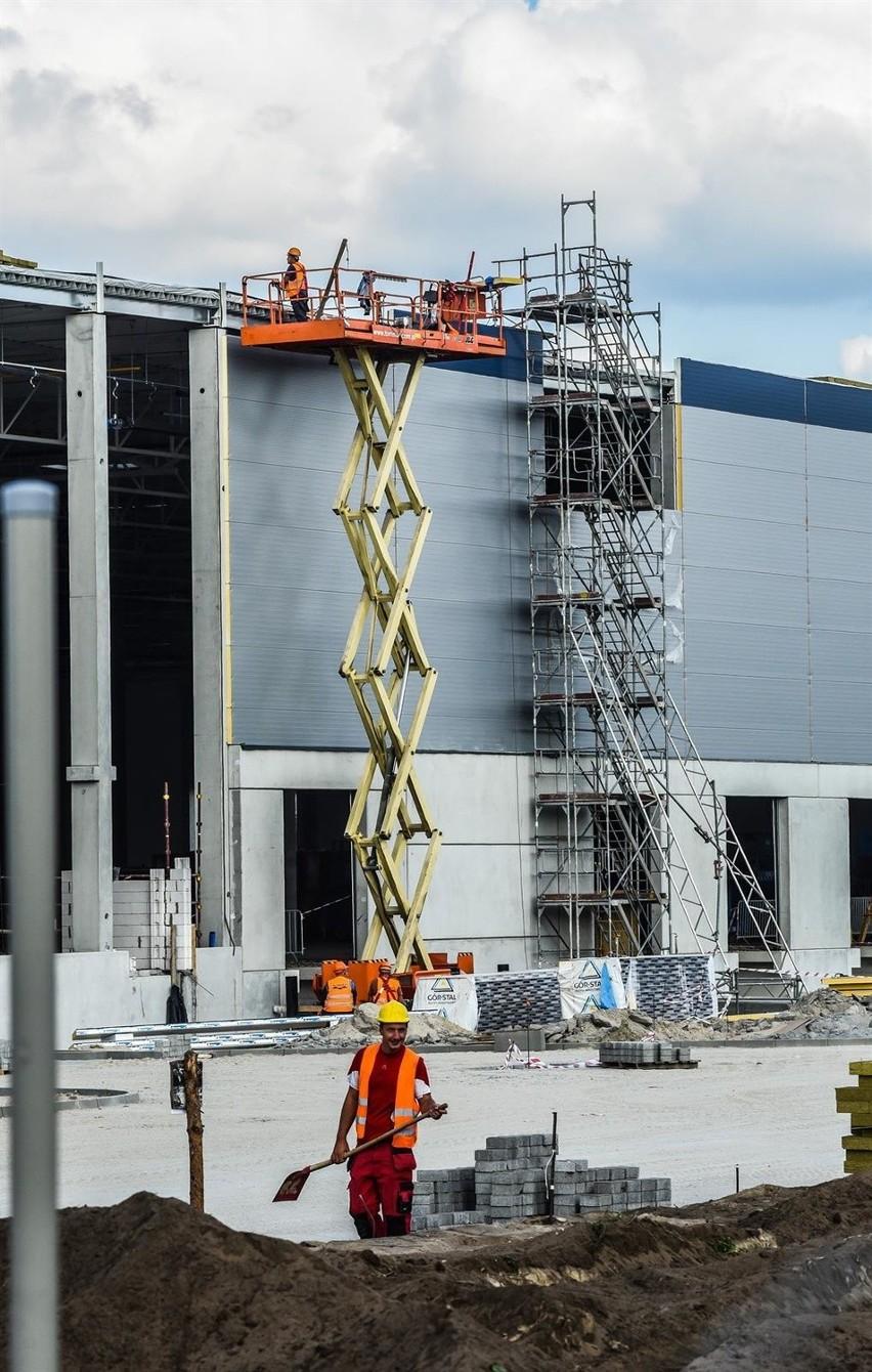 Budowa centrum dystrybucji Carrefoura w parku przemysłowymBudowa centrum dystrybucji Carrefoura ul Chemiczna