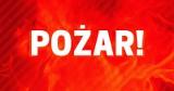 Pożar domu wypoczynkowego w Ocyplu pod Starogardem Gdańskim 14.08.2020. Akcja gaśnicza aż z 12 zastępami strażaków
