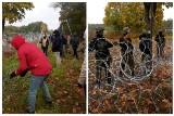 """Szturm na granicy polsko-białoruskiej. Imigranci próbują sforsować zasieki! Słychać okrzyki: """"Niemcy, Niemcy"""" [ZDJĘCIA, WIDEO]"""