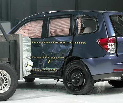 Test zderzeniowy Subaru Forester