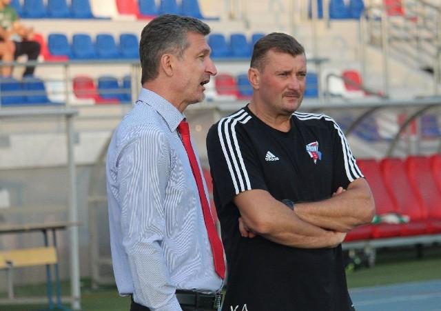 Trenerzy Sławomir Majak i Artur Kupiec