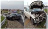 Porsche Panamera 4S rozbił się pod Olsztynem na S51 (zdjęcia)