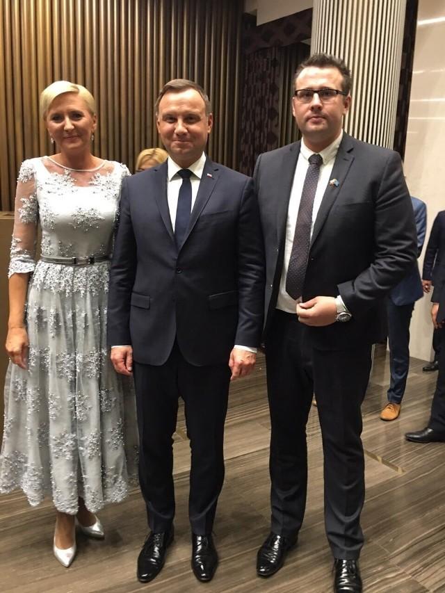 Tomasz Kuliś miał okazję w Astanie do spotkania z prezydentem RP Andrzejem Dudą i jego małżonką.