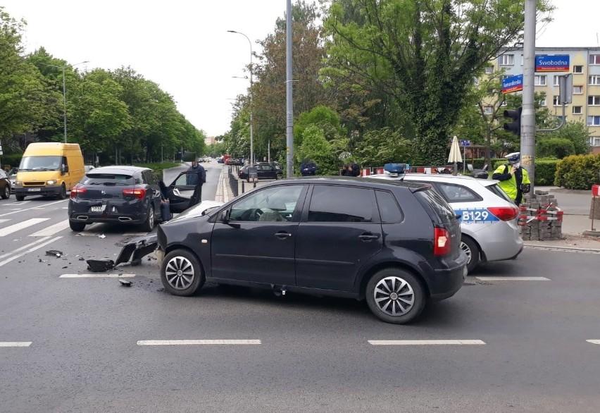 Wypadek przy Arkadach Wrocławskich 24.05.2021