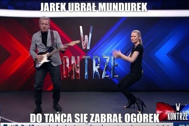 """Magdalena Ogórek i Jarosław Jakimowicz wzbudzili kontrowersje swoim występem w programie """"W kontrze"""" na antenie TVP Info. Co na to internet?Zobacz kolejne memy. Przesuwaj zdjęcia w prawo - naciśnij strzałkę lub przycisk NASTĘPNE"""