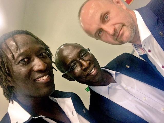Od lewej Ibrahima Iyane Thiam, ambasador Amadou Dabo i Peter Kaluba