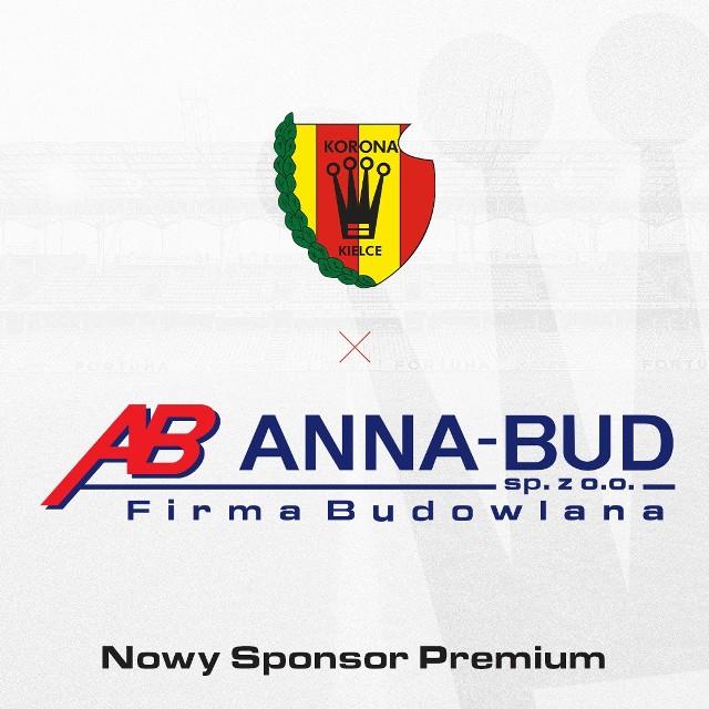 Do grona sponsorów premium Korony Kielce dołączyła firma budowlana ANNA-BUD. Umowa między stronami będzie obowiązywać przez najbliższy rok.