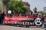 1 maja ogłosili dniem walki pracowniczej. Anarchiści i syndykaliści przeszli przez centrum Wrocławia