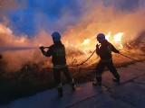 Strażacy w akcji - w Jeziórku płonęła sterta drewna (ZDJĘCIA)