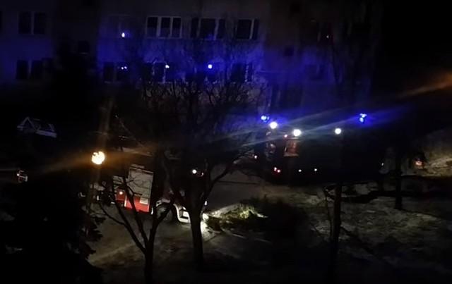 Pożar piwnic przy ul. Braci Wieniawskich w Lublinie