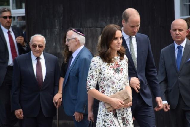 Książę William i księżna Kate w Muzeum Stutthof.
