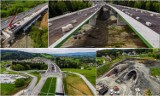 Budowa górskiego odcinka ekspresowej zakopianki pomiędzy Lubniem i Skomielną Białą trwa w najlepsze. Zobacz aktualny stan prac [ZDJĘCIA]
