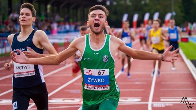 Szymon Żywko (AZS UMCS Lublin) został na bialskim stadionie młodzieżowym mistrzem Polski na dystansach 800 i 1500 m