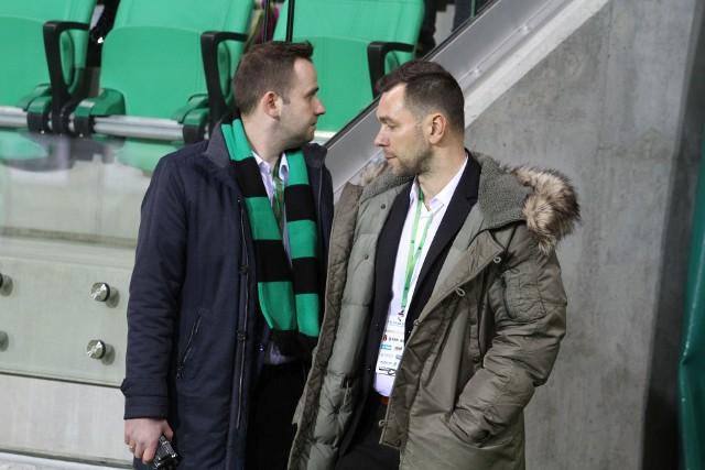Mateusz Nowak (z lewej) potwierdził, że mecz Stal z Lechią nie będzie pokazany w telewizji