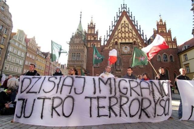 Zeszłoroczny protest narodowców na wrocławskim Rynku