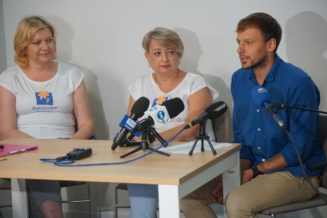 Konferencja poświęcona OnkoRunowi 2021 w Białostockim Centrum Onkologii (12.08.2021 r.).