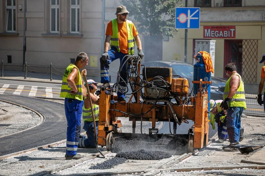 Trwają prace na skrzyżowaniu ulic Dominikańskiej i św. Gertrudy