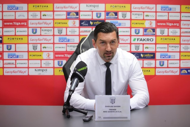 Na zdjęciu trener Sandecji Dariusz Dudek