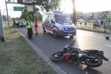 Groźny wypadek motocyklisty pod Koroną. Krzywoustego był zablokowana