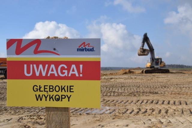 Trwa budowa obwodnicy Olesna, będącej fragmentem drogi S11.