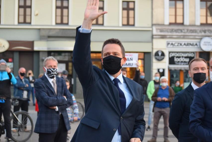 Rafał Trzaskowski w Rybniku spotkał się z dziennikarzami...