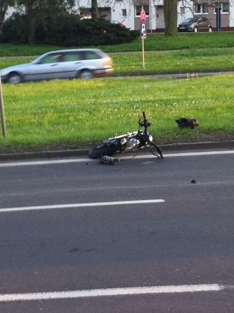 Wypadek na Trasie Zamkowej w Szczecinie