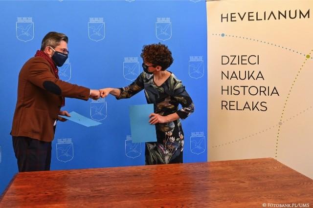 Podpisanie porozumienia między Hevelianum, a władzami Sopotu