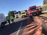 Poważny wypadek na S8 w Ostrowi Mazowieckiej