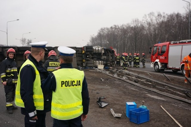 Wypadek w Katowicach na A4