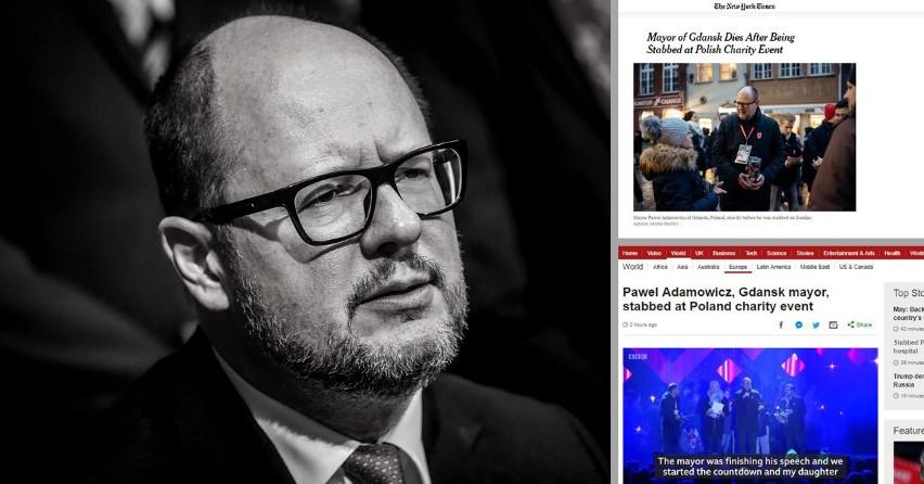 Świat wstrząśnięty śmiercią Pawła Adamowicza. Zagraniczne media komentują morderstwo prezydenta Gdańska