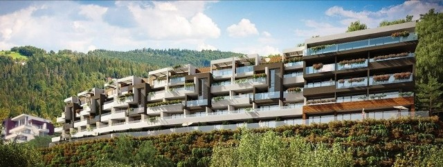 Wisła: Powstaje II etap apartamentów Bukowa Góra za 35 milionów złotychWizualizacja kompleksu (etap I i II) apartamentów Bukowa Góra