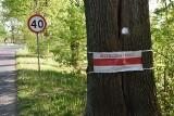 Wypadki na łuku drogi nr 276 w Radoszynie (gm. Skąpe). Pani Marta: - Najgorzej, że ci, co szkód narobią, są tacy niegrzeczni