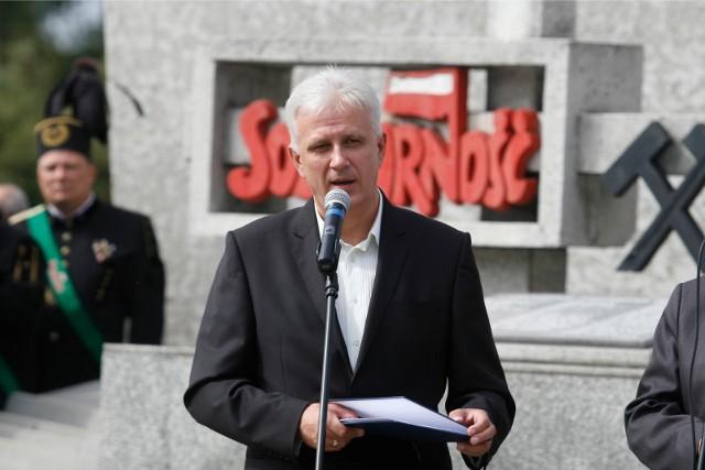 Na zdjęciu Dominik Kolorz, szef śląsko-dąbrowskiej Solidarności.